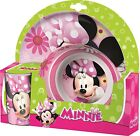 Minnie Mouse | Hearts & Flowers Melamine Tumbler, Bowl & Plate Mealtime Set