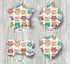OWLS COLORED BIRDS FASHION FOR PETS TAGS -drf5Z