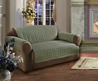 OVER FILL Microfiber Sofa Love seat Chair Furniture Protector 3 Sizes MANY COLOR