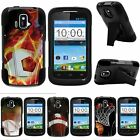 For ZTE Sonata| ZTE Radiant| Hybrid Hard Bumper Stand Case Top Sports