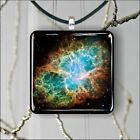 SPACE CRAB NEBULA SQUARE PENDANTS NECKLACE MEDIUM OR LARGE -we43pa