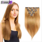 "soft selectable 28"" 70CM Clip in on hair Extension 100%real Human Hair hairpiece"