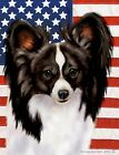 Papillon (Black & White): House Flags and Garden Flags. In 3 designs and 2 sizes