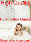 Baby White 95x120cm Pure Cotton Gauze Bath Towel Breathable Absorbent Washable