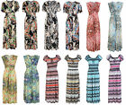 LADIES MAXI DRESS WOMENS SUMMER LONG STRETCH MAXI DRESS UK SIZE 8-14 ONE SIZE