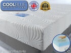 Cool Blue Memory Foam Matress 3ft Single 4ft6 Double 5ft King Size SUPERIOR