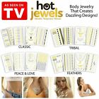 2 x Hot Jewels® 8pcs Metallic Temporary Tattoos Silver Gold Black Flash Body