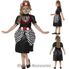 CK797 Girls Sugar Skull Day Of Dead Mexican Senorita Halloween Skeleton Costume