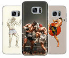 Muay Thai Kickboxing Fight MMA Rubber Phone Cover Case fits Samsung Galaxy