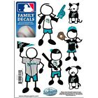 MLB: Miami Marlins Family Decals 6 Pack Stickers