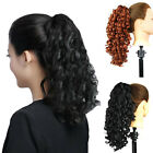 New Black Brown Womens Long Tight Wavy Curly Claw Drawstring Ponytail Hairpieces