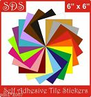 """Tile transfers stickers 6"""" self adhesive packs of 10 ......GREAT NEW COLOURS"""