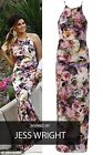 New Women's Celebrity Inspired Jess Wright Floral Maxi Summer Ladies Dress 8-14