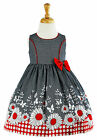 Girls Baby 100% Cotton Sunflower Print Sleeveless Summer Dress 6 Months- 5 Years