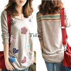 Women Long Sleeve Floral Casual Shirt Tops Blouse Spring Autumn Jumper TXWD