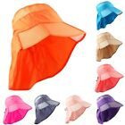 Outdoor Sports Woman Lady Wide Brim Summer Beach Sun Protection Foldable Hat Cap