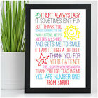 Thank You Teacher Gift - Personalised Poem Gift for Teachers - Best Teacher Gift