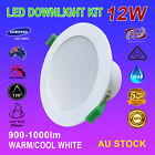4/6pcs 12W Led Downlights Kits Complete Recessed Ceiling Lights Warm Cool White