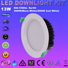 4/6X 13W IP44 DIMMABLE RECESSED LED DOWNLIGHTS KITS WARM/DAYLIGHT WHITE 90MM CUT