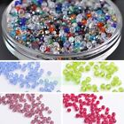 3/4/6/8/10/12mm Round Faceted Crystal Glass Loose Spacer Beads Wholesale Lots