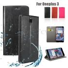 New Flip Leather Wallet Card Holder Cover Case Stand Waterproof For Oneplus 3 3T