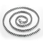 High Quality Silver Polished Stainless Steel Men&Women Rolo Chain Necklace New