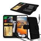 For HTC One X9 - Clip On PU Leather Wallet Case & Earphone