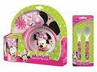 Minnie Mouse Hearts & Flowers 5pc Tumbler, Bowl, Plate Set & Cutlery | Meal Time