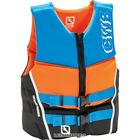 CWB Men's Neoprene Reverb Vest, Black/Blue/Orange