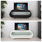 "Oval High Gloss TV Stand Modern Entertainment Unit Black White For 28"" to 50"""