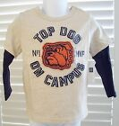 BABY GAP Boys Shirt Size 3T TOP DOG Layered Long Sleeve Cotton Tee Toddler NEW