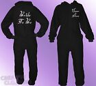 Black Onesie ladies BRIDE TO BE name PERSONALISED wedding hen night 80% COTTON