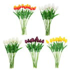 10 Head Latex Real Touch Tulip Flowers Home and Wedding Party Bouquet Decor h#