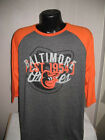 MLB Baltimore Orioles Baseball Raglan Style  T-Shirt Mens Size Nwt Majestic on Ebay