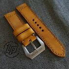 Handmade Vintage Yellow/Tanned Leather Strap Band for big watch.