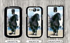 HORSE BLACK STALION LEADER CASE FOR SAMSUNG GALAXY S3 S4 NOTE 3 -dfs3Z