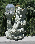 Outdoor Garden Decor Solar Fairy Angel/Cherub Statue Sculpture Light LED