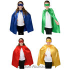 A836 Kids Super Hero Superhero Cape and Eye Mask Accessory Book Week Costume