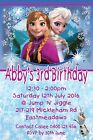 Girls Personalised Birthday Party Invitations Frozen Anna Elsa Print - Any Name