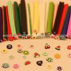 50 DIY 3D Nail Art Fimo Canes Stick Rod Polymer Clay Sticker Tips Decoration S1
