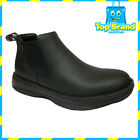 RETRO Redback BLACK WAITER CHEF SHOES WATER OIL REPELLENT LEATHER SHOES SIZES