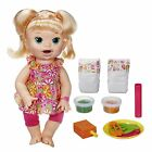 Baby Alive Blonde SNACKING SARA Super Snacks Doll English Spanish Eats Poops NEW