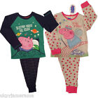 Boys Girls Long Pyjamas Peppa Pig & George Pig Snuggle Pyjamas Ages 2 3 4 5 6