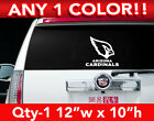 "ARIZONA CARDINALS WORDS / HEAD LOGO DECAL STICKER 12""w x 10""h ANY 1 COLOR $12.99 USD on eBay"
