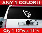 "ARIZONA CARDINALS HEAD ONLY LOGO DECAL STICKER 12""w x 11""h ANY 1 COLOR $12.99 USD on eBay"