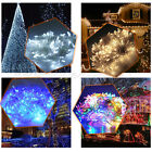 500 LED Colorful Indoor Outdoor String Fairy Lights Clear Cable Party UK Plug