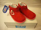 PEX GIRLS BOOTS RED  SUEDE LEATHER SIZES 2-5 STYLE MAGGIE
