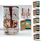 For HTC One X9 10 M9 M8 Desire 820 626 - Spill Coffee Print Wallet Phone Case