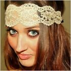 Miss LILY - Stretch Boho Lace Gold/Black Ladies/Girl Headband/Wrap