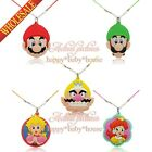 hot 1-5pcs Super Mario Cartoon necklace pendant accessories kids party gifts